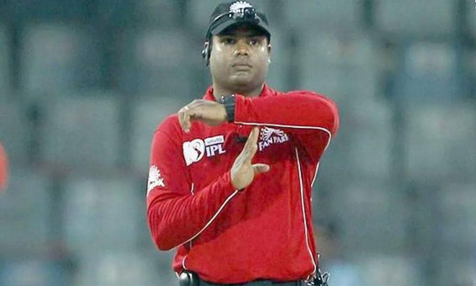 IPL-14 : परिवार के Kovid-19 के सम्पर्क में आने के बाद अंपायर नितिन मेनन IPL से हटे-Hindi News