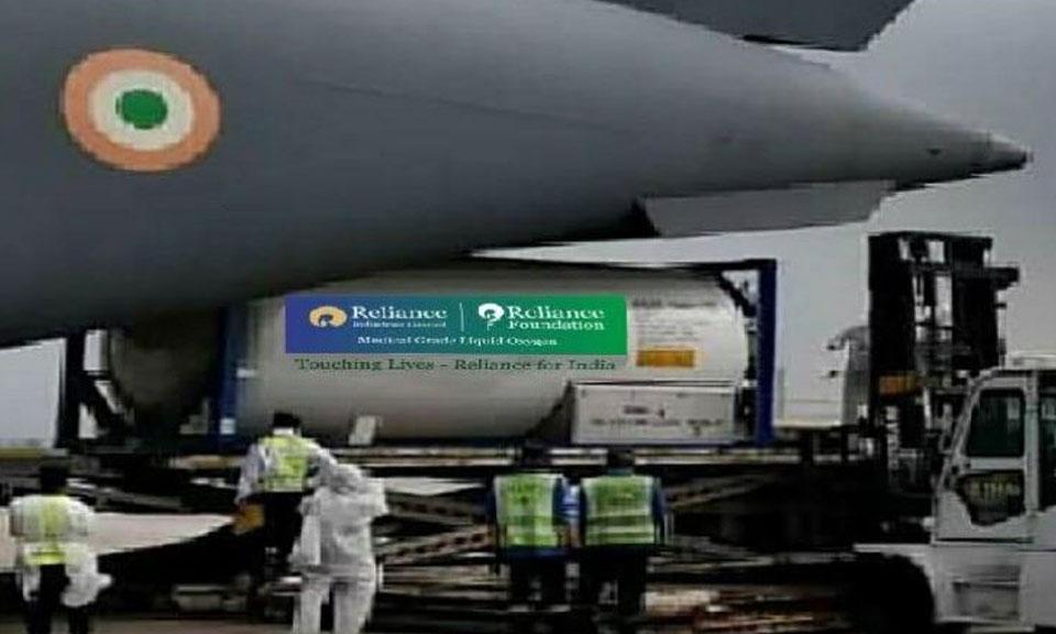 Oxygen की कमी को देखते हुए Reliance ने विदेश से Oxygen के 24 टैंकर एयरलिफ्ट किए-Hindi News